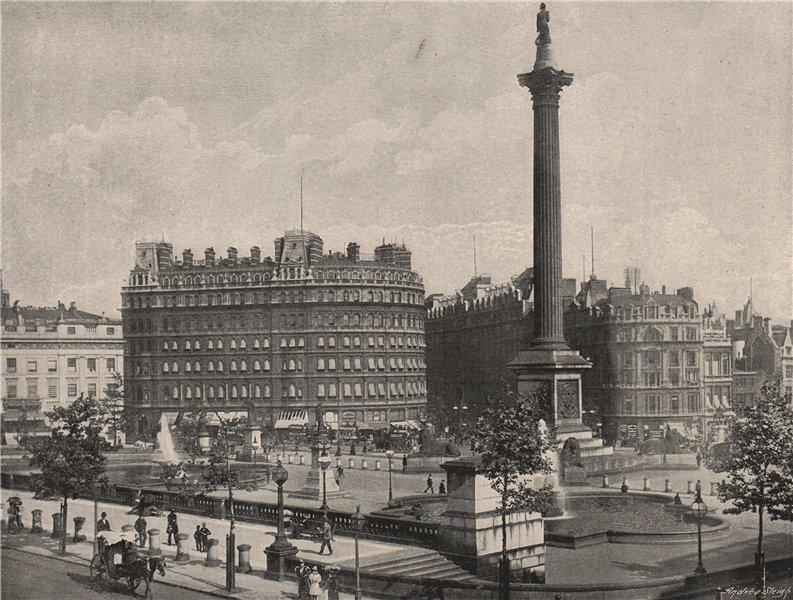 Associate Product Trafalgar Square. London 1896 old antique vintage print picture