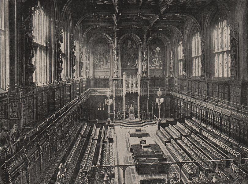 Associate Product Interior of The House of Lords. London. Politics 1896 old antique print