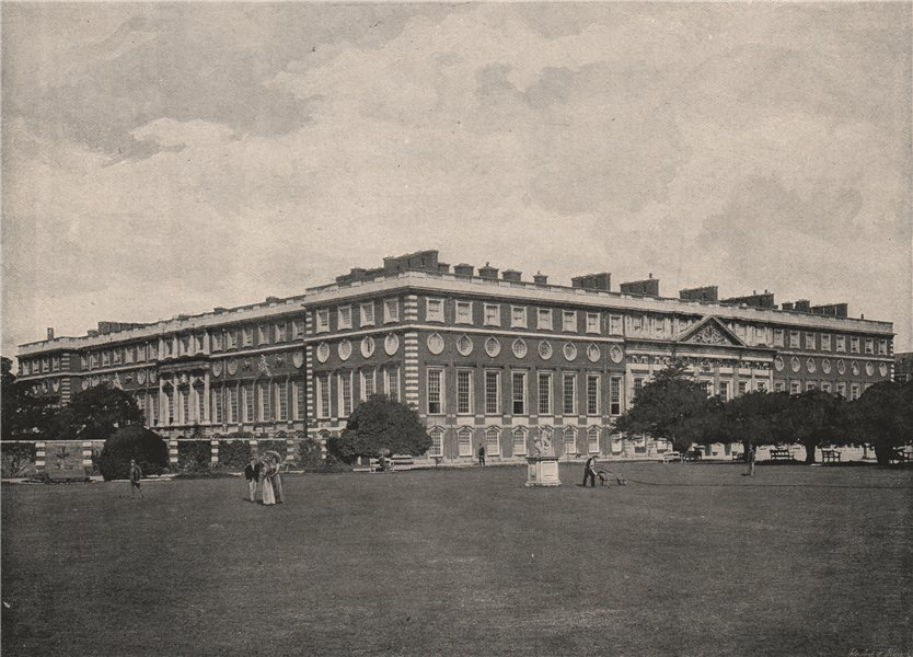 Associate Product Hampton Court Palace. General View. London. Historic Houses 1896 old print