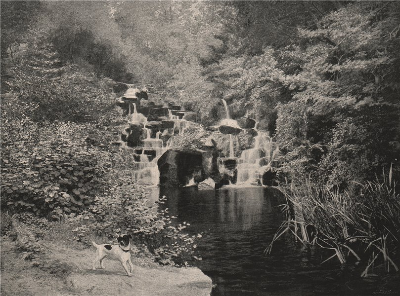 The Cascade, Virginia Water. Surrey. Landscapes 1896 old antique print picture