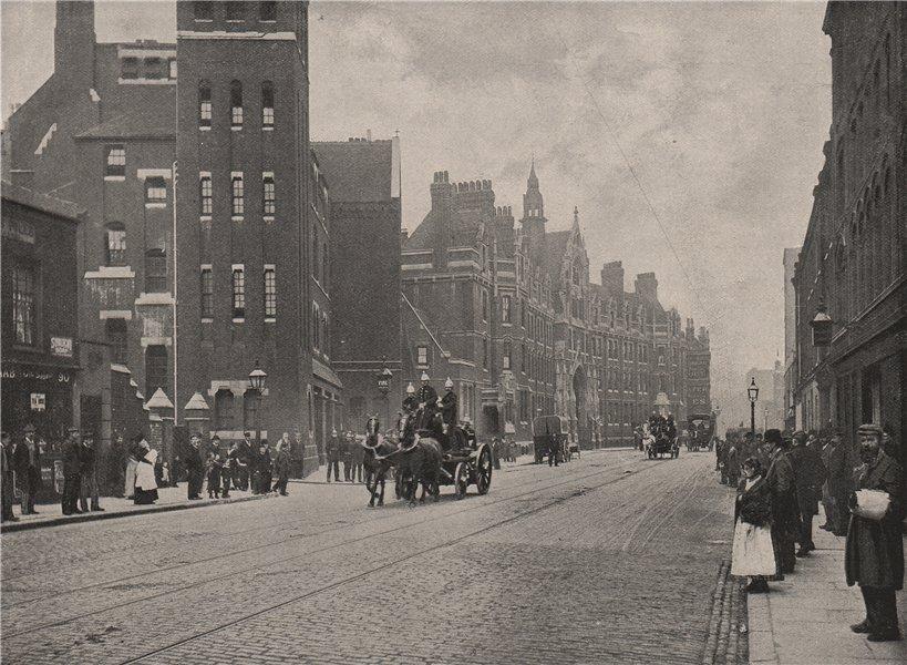 Associate Product Headquarters of the Metropolitan fire Brigade. London 1896 old antique print