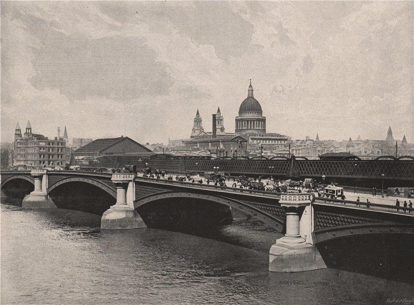 Associate Product Blackfriars Bridge. London 1896 old antique vintage print picture