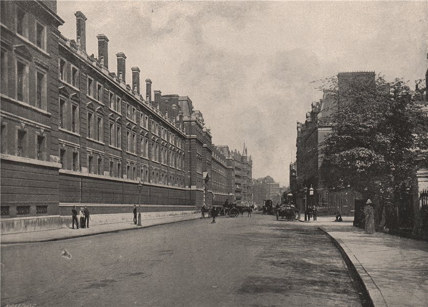 Associate Product Knightsbridge, with the barracks. London. Militaria 1896 old antique print
