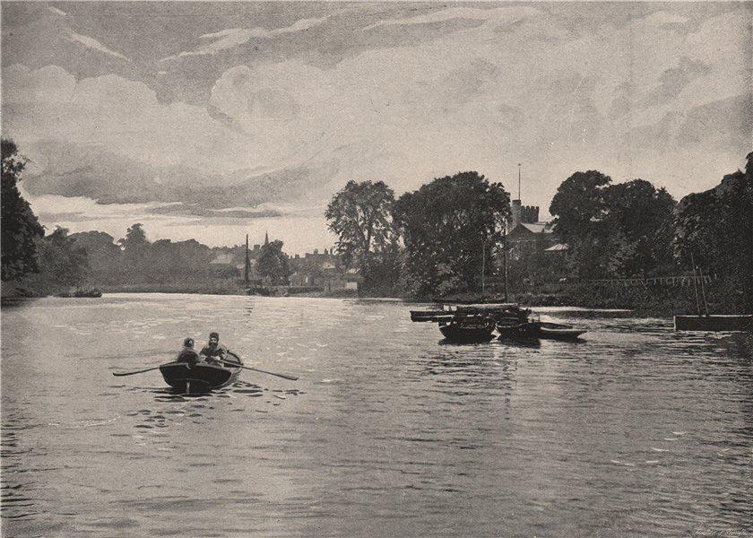 Associate Product Twickenham Ferry. London. Ships 1896 old antique vintage print picture
