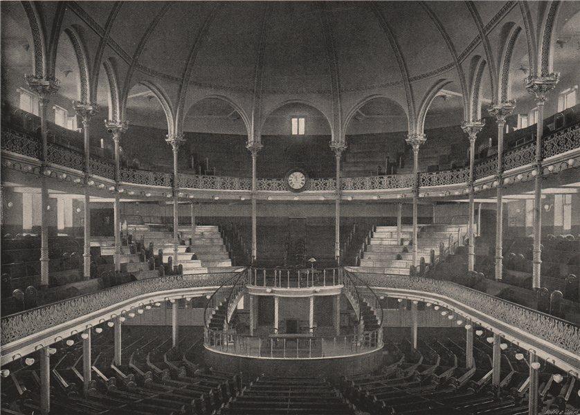 Associate Product The Metropolitan Tabernacle . London. Churches 1896 old antique print picture