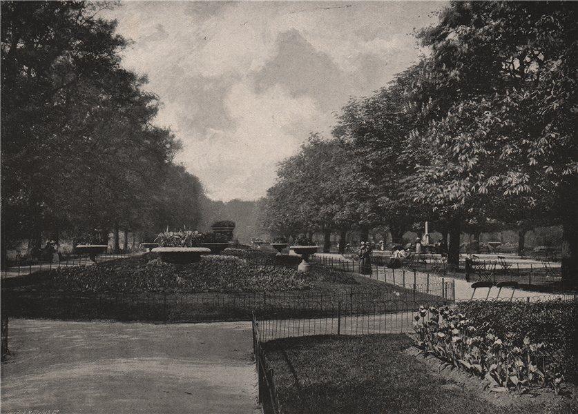 Associate Product The flower walk , Regent's Park. London. Parks 1896 old antique print picture