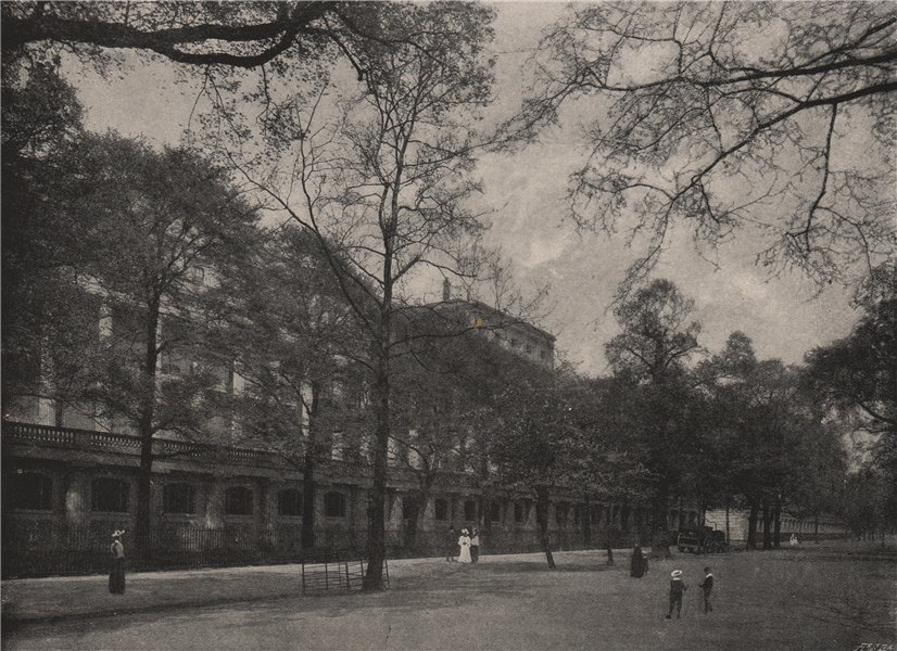 Associate Product Carlton House Terrace. London. Historic Houses 1896 old antique print picture