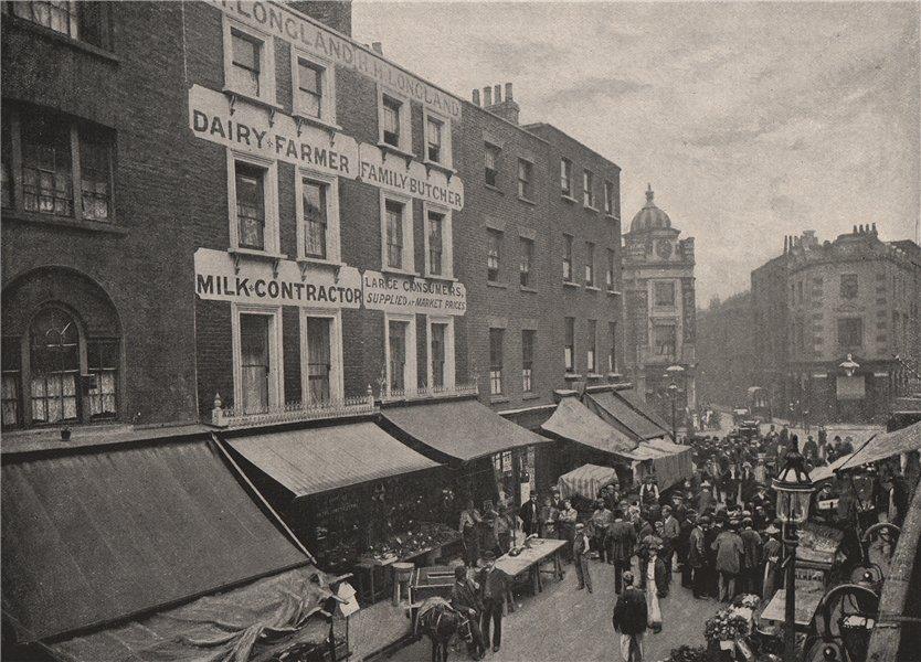 Associate Product Seven Dials. London 1896 old antique vintage print picture
