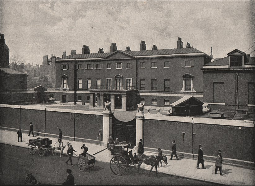 Associate Product Devonshire House. London. Historic Houses 1896 old antique print picture