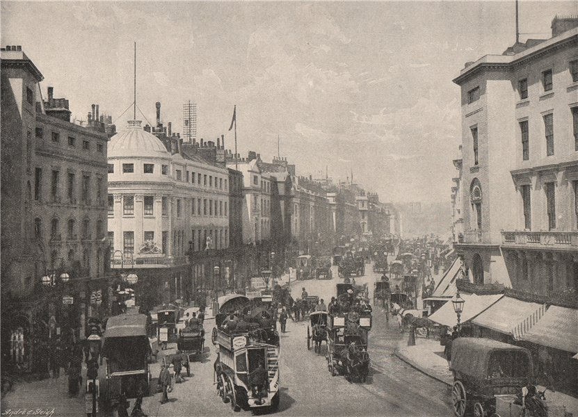 Associate Product Regent Street. London 1896 old antique vintage print picture