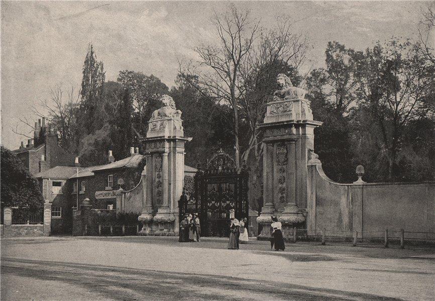 Hampton Court Palace. The Lion Gates. London. Historic Houses 1896 old print