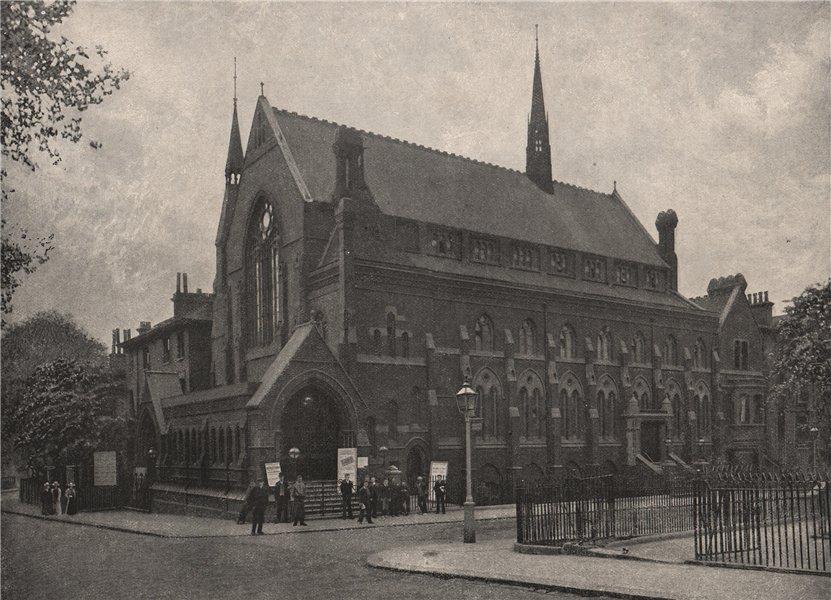 Associate Product Westbourne Park Chapel. London. Churches 1896 old antique print picture