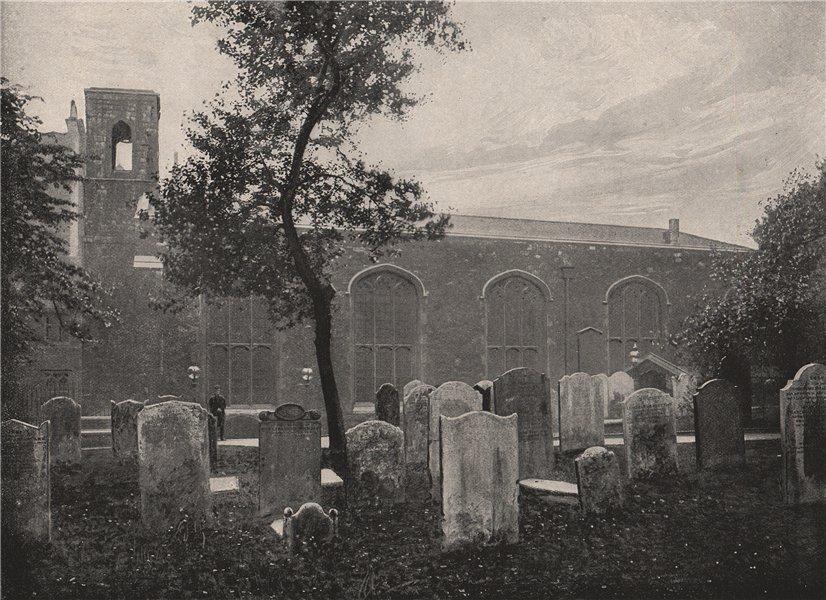 Associate Product Chapel Royal, Savoy. London. Churches 1896 old antique vintage print picture