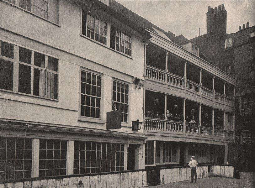 "Associate Product The ""George"" Inn, Borough. London 1896 old antique vintage print picture"