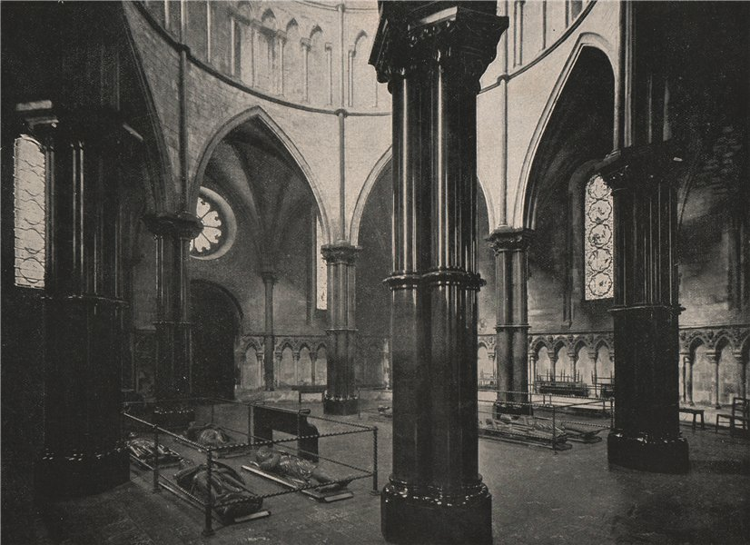 Associate Product The Temple Church. The Rotunda. London 1896 old antique vintage print picture