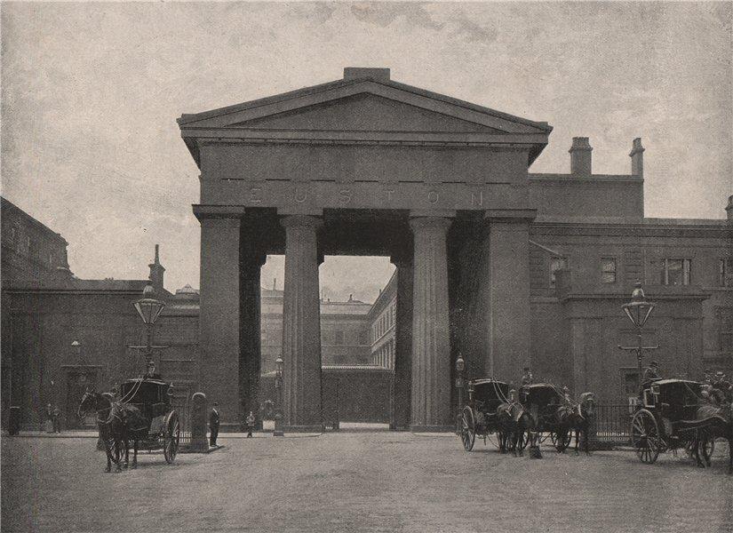 Euston Station. London. Railways 1896 old antique vintage print picture