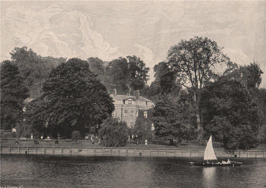 Associate Product Buccleuch House, Richmond. London 1896 old antique vintage print picture
