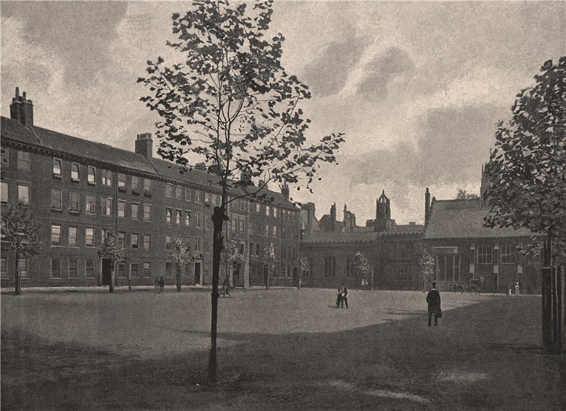Associate Product Gray's Inn Square. London. Law 1896 old antique vintage print picture