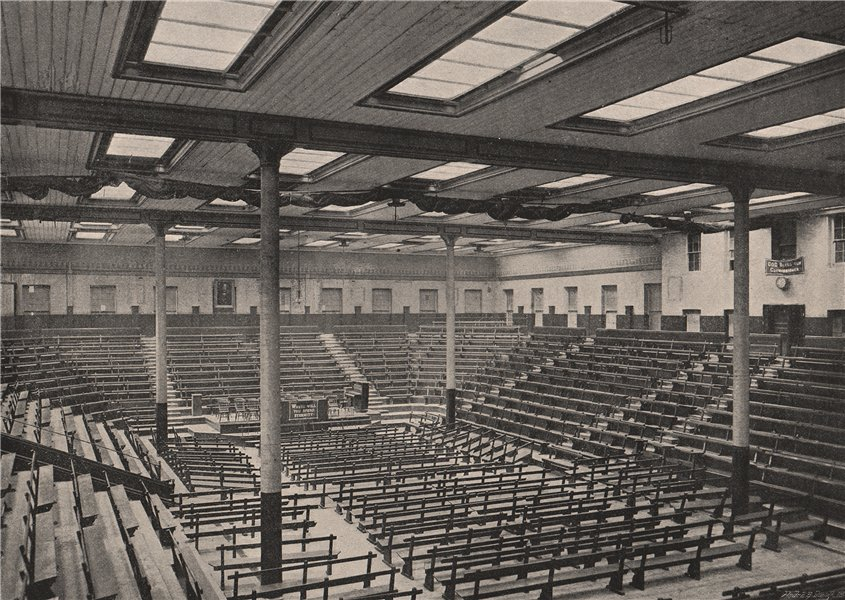 Associate Product The Congress Hall, Clapton. London 1896 old antique vintage print picture