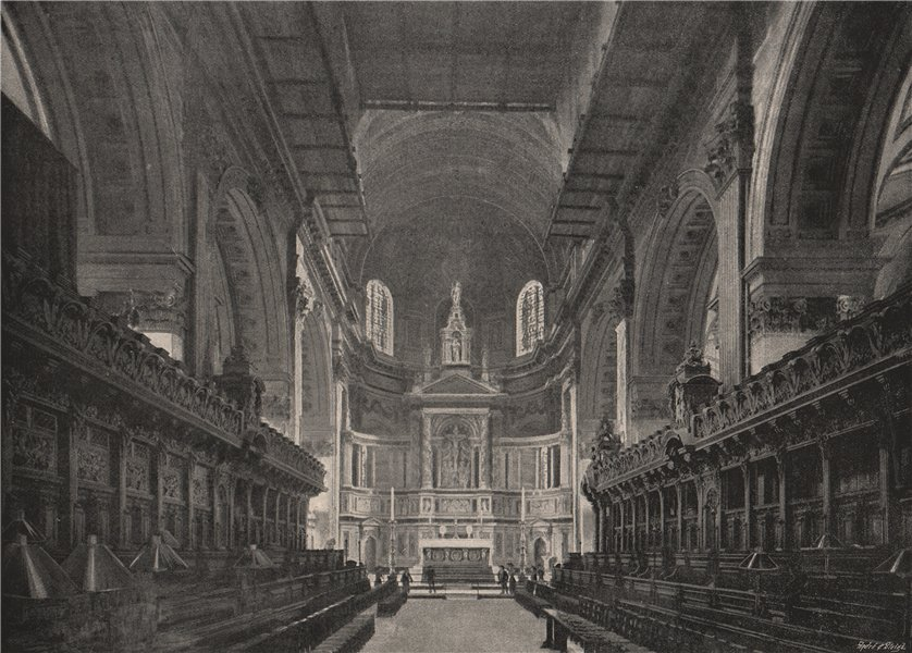 Associate Product St. Paul's Cathedral. The Choir and Reredos. London. Churches 1896 old print