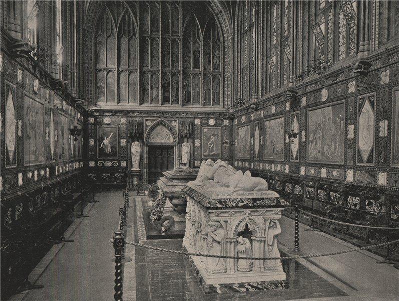 The Albert Memorial Chapel, Windsor, Looking West. Berkshire. Churches 1896