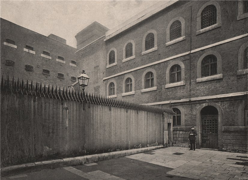 Associate Product Newgate. The Central Courtyard. London 1896 old antique vintage print picture