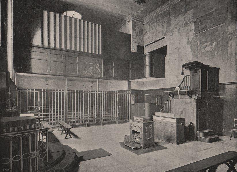 Associate Product Newgate. The Chapel. London. Churches 1896 old antique vintage print picture