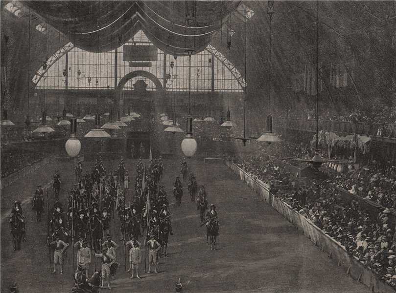 Associate Product The Military Pageant at the Royal Military tournament, 1895. London 1896 print