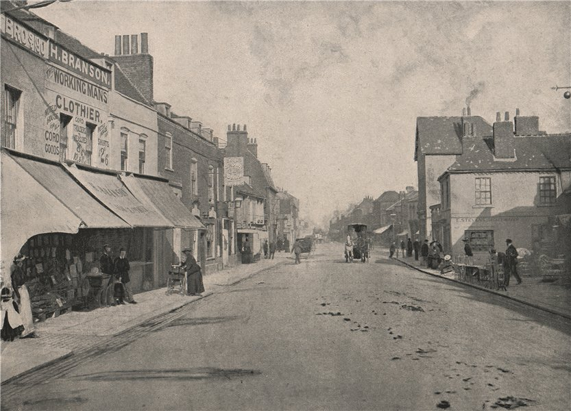Associate Product High Street, Hounslow. London 1896 old antique vintage print picture