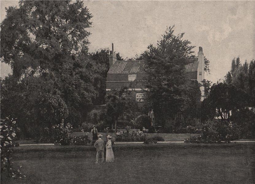 Associate Product Defoe's house at Mitcham. London 1896 old antique vintage print picture