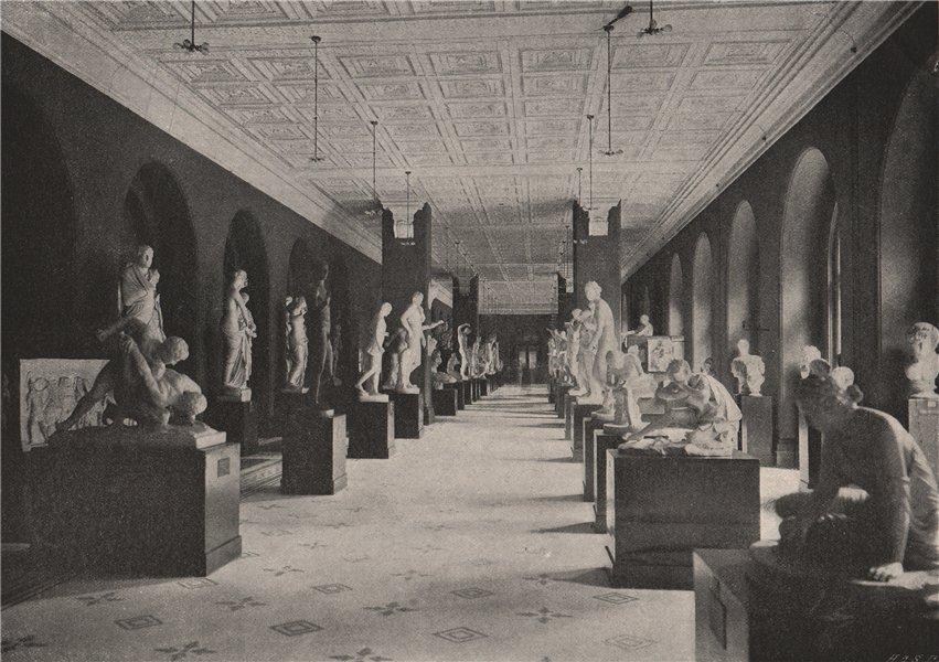 Associate Product South Kensington Museum. The Sculpture Hall. London 1896 old antique print