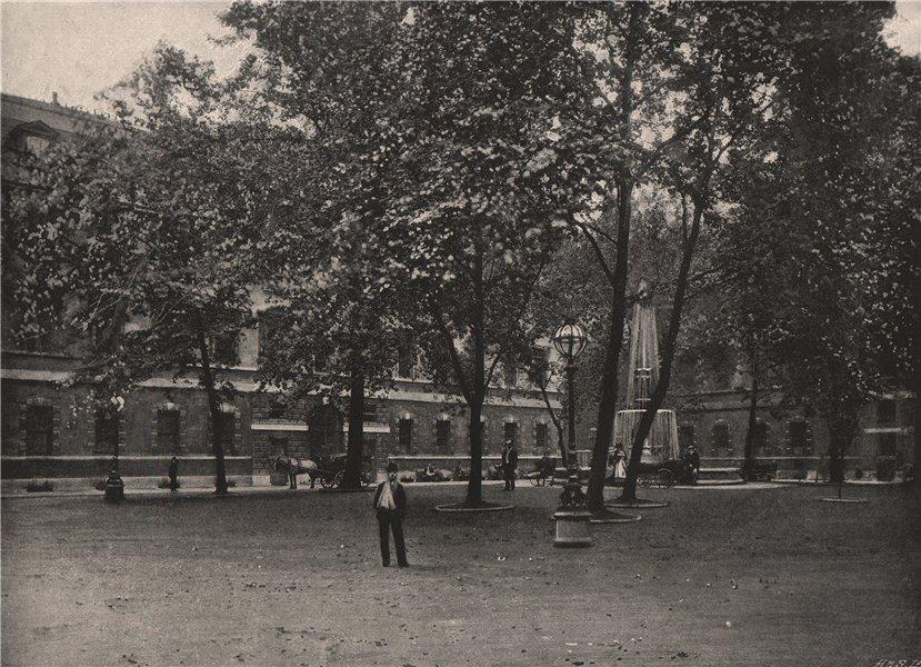 Associate Product The Quadrangle, St. Bartholomew's Hospital. London. Medical 1896 old print
