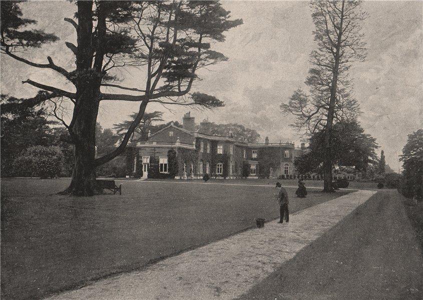 Associate Product The Durdans, Epsom. Surrey. Historic Houses 1896 old antique print picture