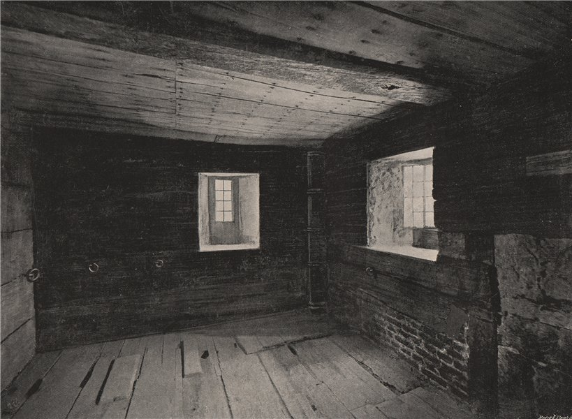 Associate Product The Prison in The Lollards' Tower, Lambeth Palace. London 1896 old print