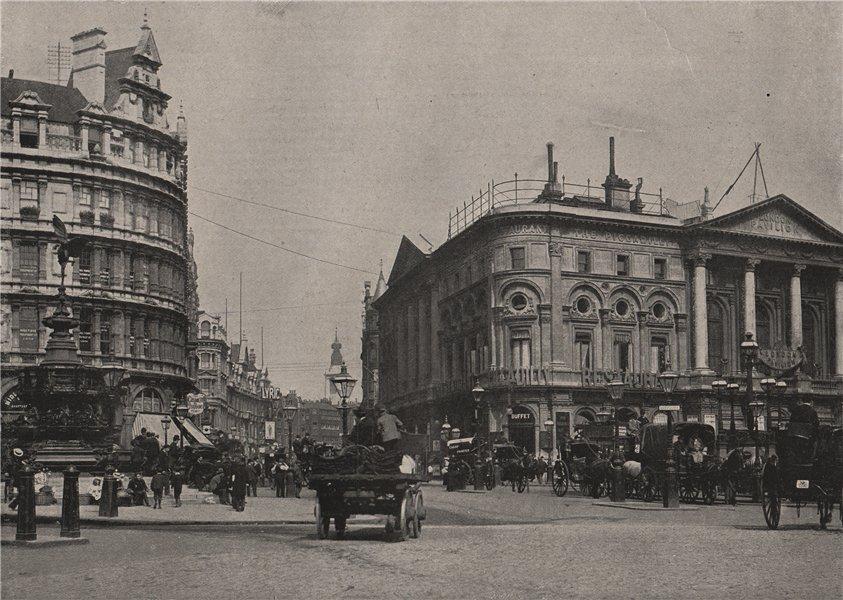 Associate Product Shaftesbury Avenue. London 1896 old antique vintage print picture