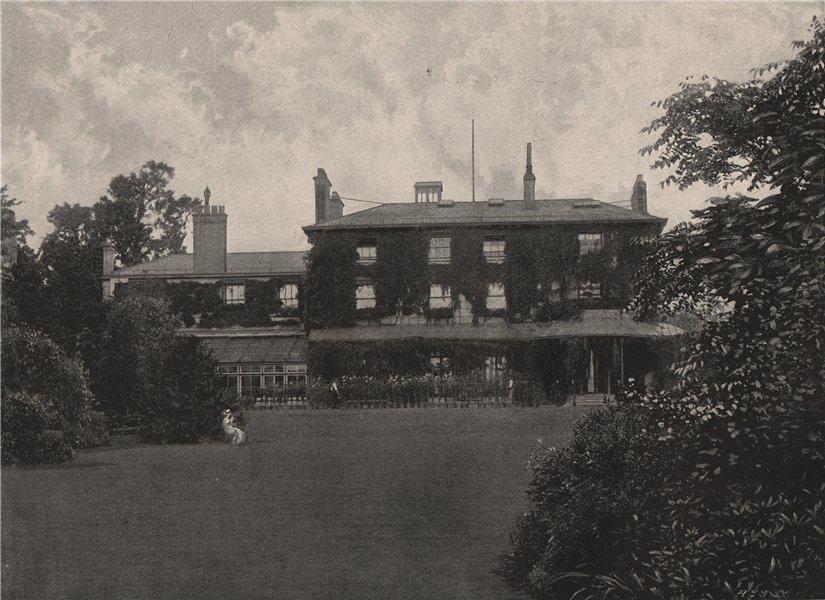 Associate Product Holly Lodge, Kensington. London 1896 old antique vintage print picture