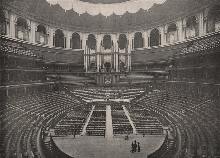 Associate Product Interior of The Royal Albert Hall. London 1896 old antique print picture