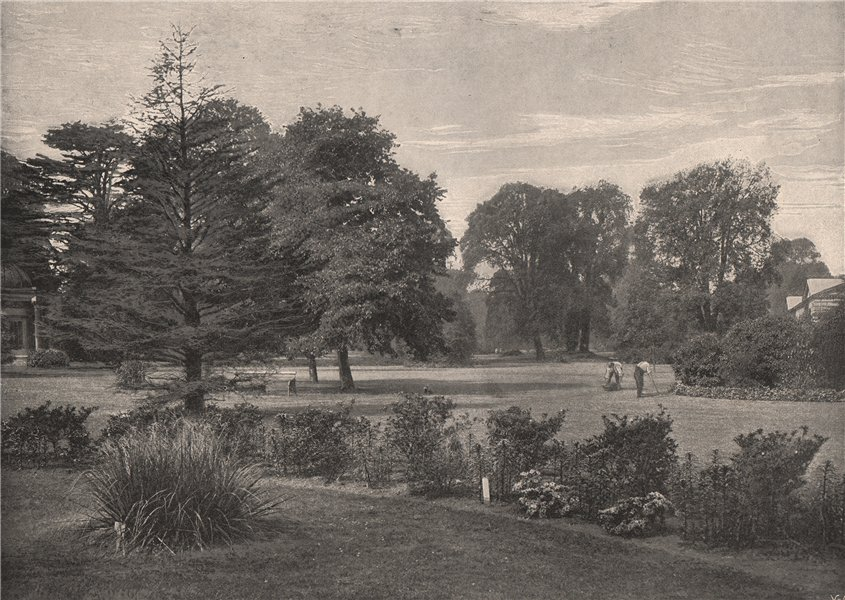 Associate Product In Kew Gardens. London. Parks 1896 old antique vintage print picture