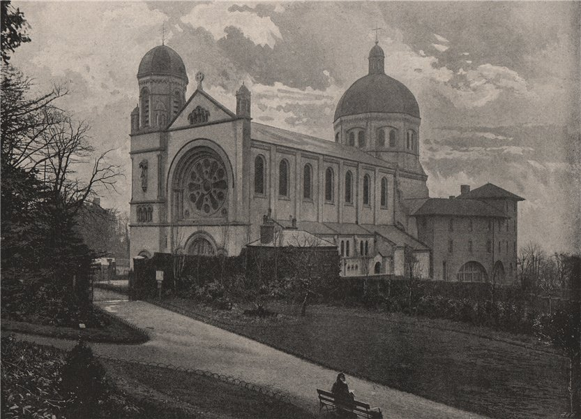 Associate Product St. Joseph's Retreat, from Waterlow Park, Highgate. London. Churches 1896