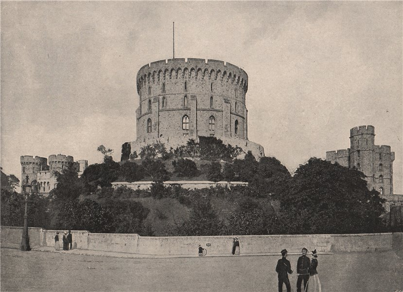 Associate Product Windsor Castle. A near view of the Round Tower. Berkshire 1896 old print