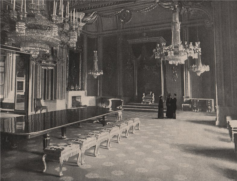 Associate Product The Throne Room, Buckingham Palace. London 1896 old antique print picture