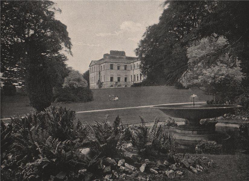 Associate Product Addington Palace. London. Historic Houses 1896 old antique print picture