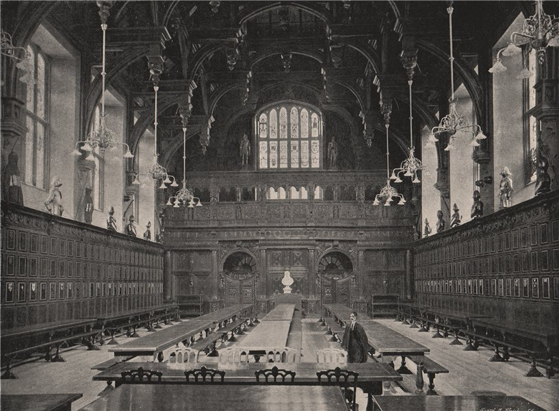 Associate Product Middle Temple Hall. London. Law 1896 old antique vintage print picture