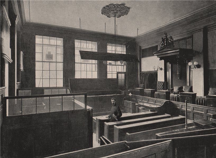 Associate Product Interior of The Central Criminal Court. London 1896 old antique print picture
