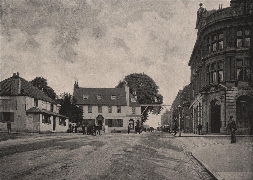Associate Product High Street, Sutton. London 1896 old antique vintage print picture