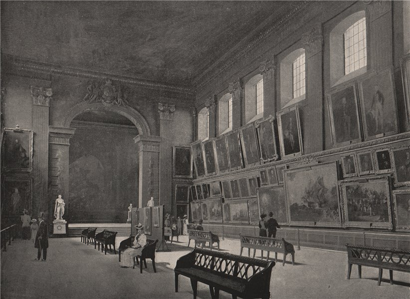 Associate Product Greenwich Hospital. The Painted Hall. London. Medical 1896 old antique print