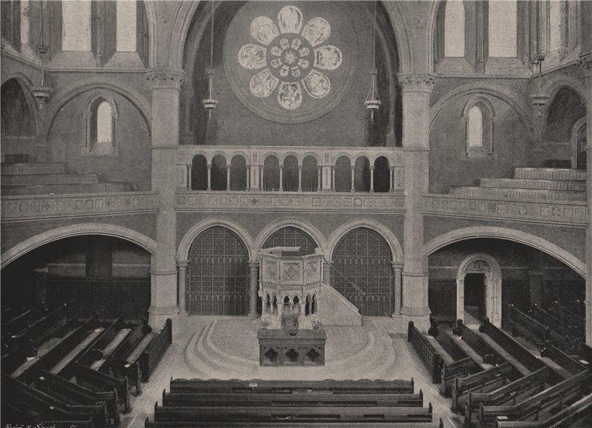 Associate Product Union Chapel, Islington. London. Churches 1896 old antique print picture