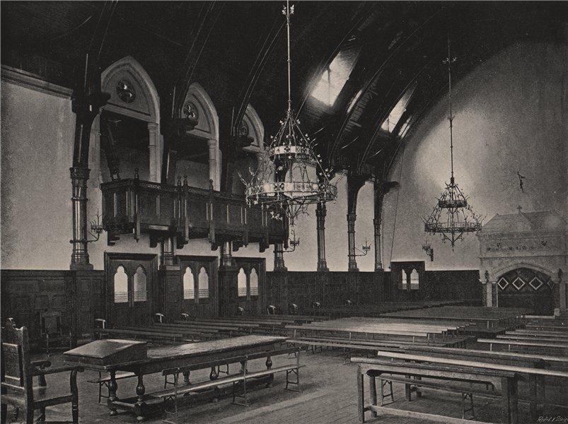 Associate Product Merchant Taylors' School. The Great Hall. London. Education 1896 old print