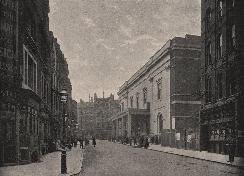 Drury Lane Theatre Royal. London 1896 old antique vintage print picture