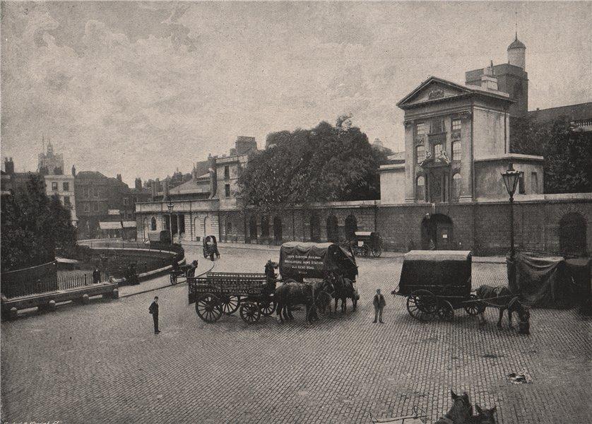 Associate Product St. Bartholomew's Hospital. The west entrance. London. Medical 1896 old print